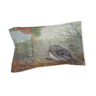 Thumbprintz Conifer Lodge Owl Sham