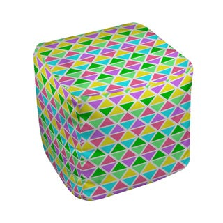 Thumbprintz Neon Party Geo Pattern - Pouf