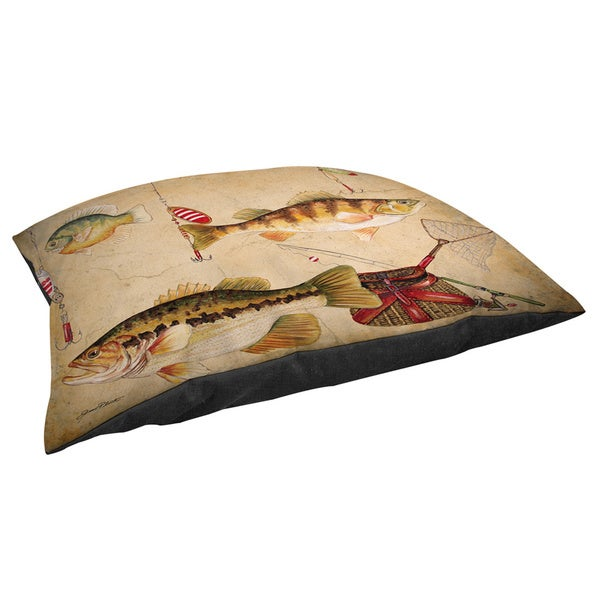 Thumbprintz Fish and Lures - Fleece Pet Bed