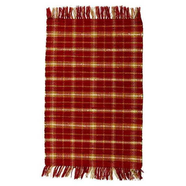 "Cranberry Cotton Rug (20""x 30"")"
