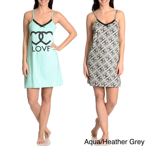 Love Loungewear Women's Love Graphic Chemise (Set of 2)