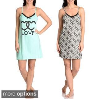 Love Loungewear Women's Love Graphic Chemise (Set of 2)