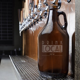 Drink Local Craft Beer Amber Growler