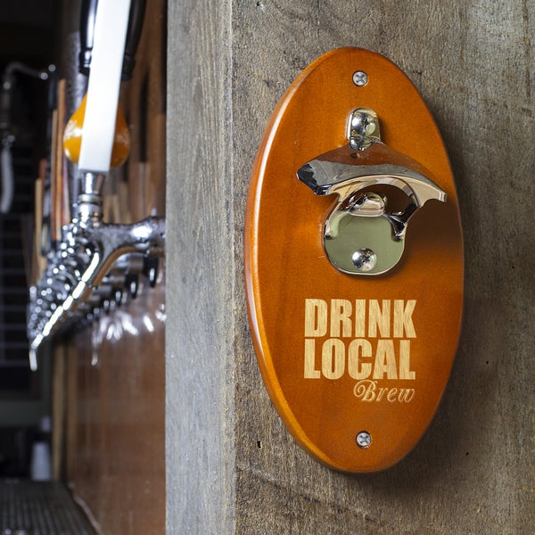 Drink Local Amber Wall Mounted Bottle Opener