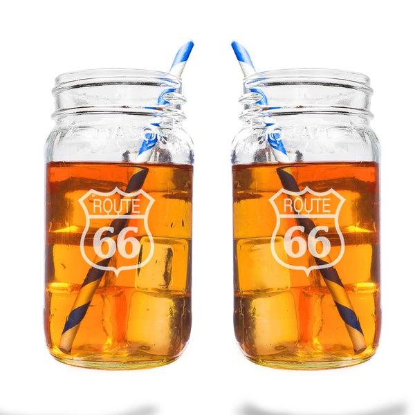 Route 66 26oz. Mason Jar Set