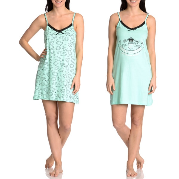 Love Loungewear Women's Couture Graphic Chemise (Set of 2)