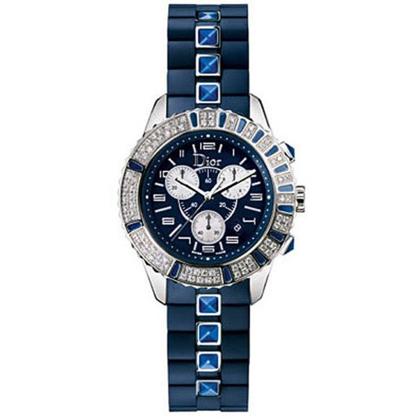Christian Dior Christal Women's CD11431IR001 Chrono Sapphire Watch (As Is Item) 15360535