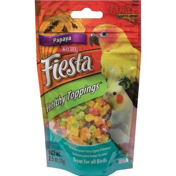 Kaytee Fiesta 2.5-ounce Healthy Topping Papaya Avian Food