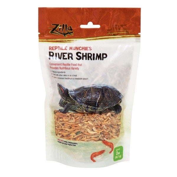 Zilla River Shrimp 2-ounce Reptile Munchies