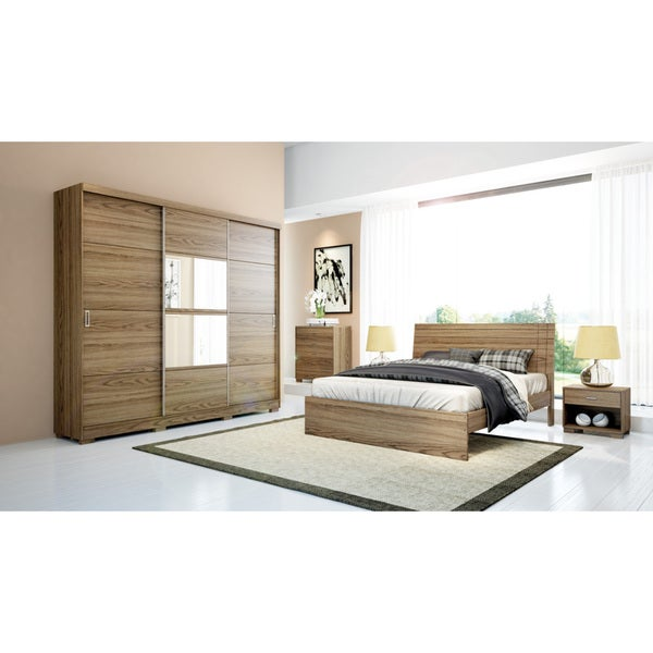 Manhattan Comfort 4-drawer Hudson 3-door Wardrobe
