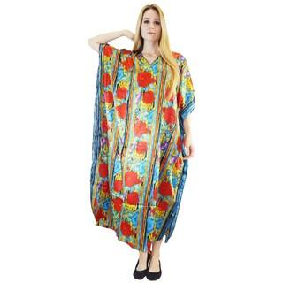 Vecceli Italy Women's 3/4-sleeve Kaftan Dress