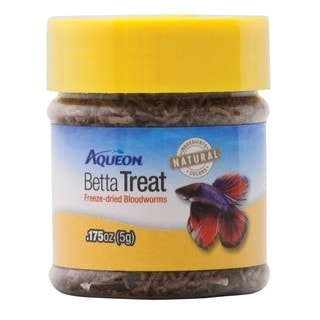Aqueon Freeze-dried Bloodworms .175-ounce Betta Treat