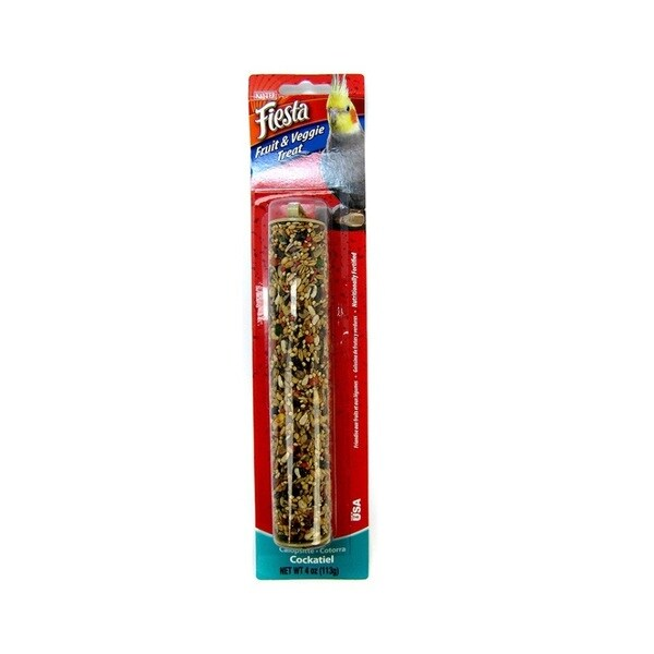 Kaytee Fiesta Fruit and Veggie Treat Stick for Cockatiel