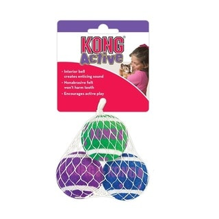 KONG - Active - Tennis Balls with Bells for Cats
