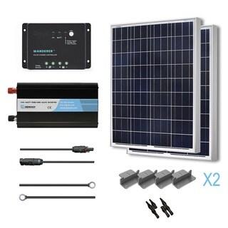 Renogy Complete Solar Kit: 200W Polycrystalline 12V