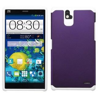 Insten Purple/White Hard PC/ Silicone Dual Layer Hybrid Rubberized Matte Phone Case Cover For ZTE Grand X Max/Grand X Max+