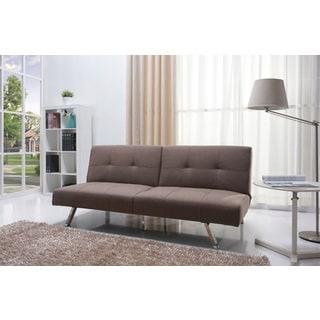 Victorville Mocha Foldable Futon Sofa Bed