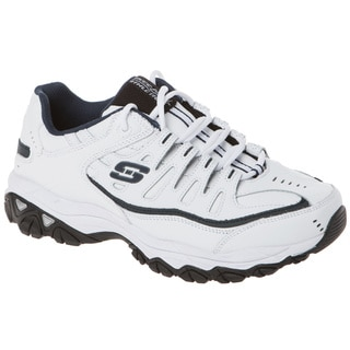 Skechers 50127 All Leather Lace Up Memory Foam Footbed Sneaker