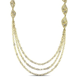Miadora 18k Yellow Gold 3-strand Link Chain Necklace