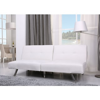 Victorville White Foldable Futon Sofa Bed