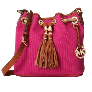 MICHAEL Michael Kors Marina Large Fuchsia Canvas Gathered Tote