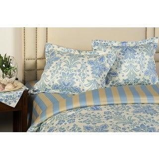 Jennifer Taylor Azure Blue and Yellow Queen Size 3-piece Duvet Cover Set
