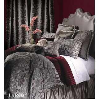 Jennifer Taylor La Rosa Grey Oversize King 10-piece Comforter Set