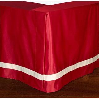 Jennifer Taylor Red Satten Woven Bedskirt