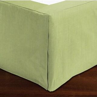 Sandy Wilson Green Satten Oversize King Bedskirt