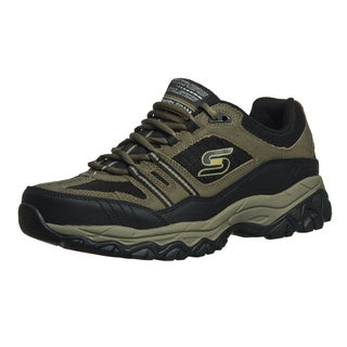 Skechers Memory Foam Footbed Leather/ Mesh Overlay Men's Lace Up Sneaker
