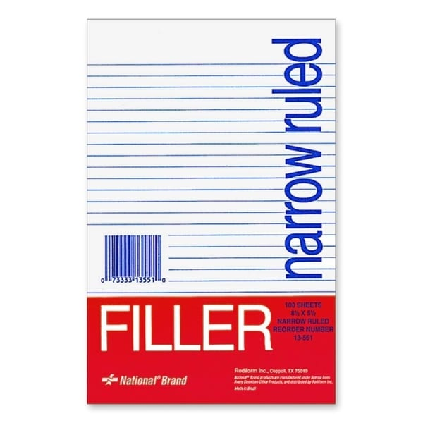 Rediform National Standard Filler Paper - 100/PK
