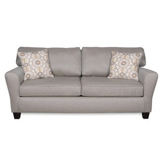 Sofab Brooke Dove Sofa With Two Reversible Accent Pillows