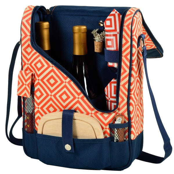 Picnic at Ascot Diamond Collection Pinot Wine and Cheese Cooler for Two