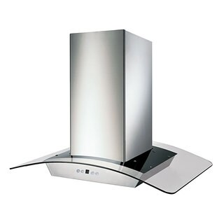 KOBE Premium 36-inch 680 CFM Island Range Hood with Glass and Commercial Grade Stainless Steel