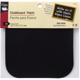 Chalkboard Patch 5inX5in 2/Pkg