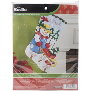 Snow Garden Stocking Felt Applique Kit18in Long