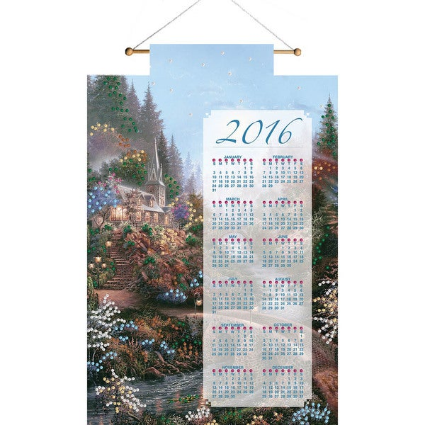 Moonlight Grace 2016 Calendar Felt Applique Kit16inX24in