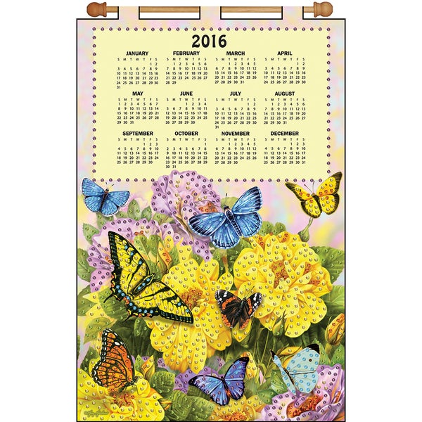 Butterflies 2016 Calendar Felt Applique Kit16inX24in