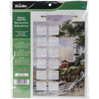 Beacon Light Bay 2016 Calendar Felt Applique Kit16inX24in