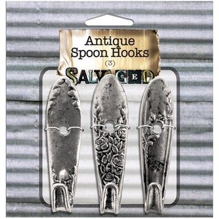 Salvaged Antique Spoon Hooks 3/Pkg