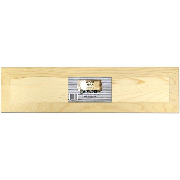 Salvaged Wood Panel 24inX6inX.5inNatural