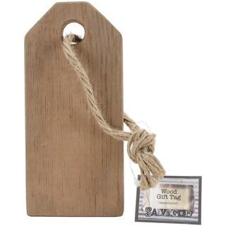 Salvaged Wood Gift Tag 7inX3inX.5inWeathered Wood
