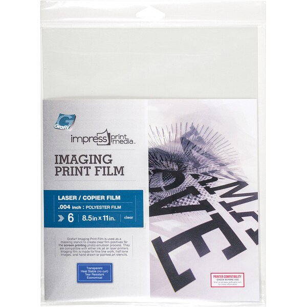 Impress Imaging Laser Print Films 6/Pkg8.5inX11in