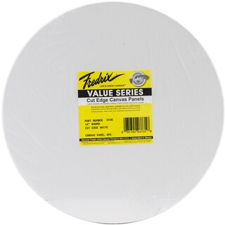 Tara Round Cut Edge Canvas Panel 6/Pkg12in
