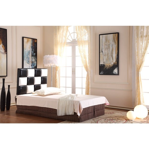 Modern Twin Black And White Tufted Headboard Free Shipping Today