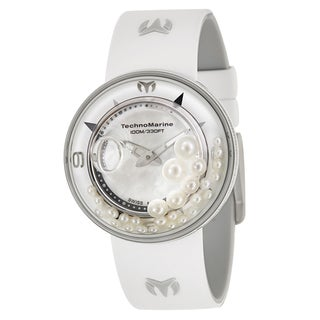TechnoMarine Women's 'Aquasphere' Stainless Steel and Diamonds Swiss Quartz Watch