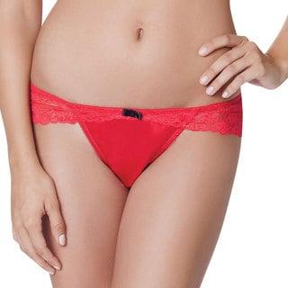 Women's Red Sasha Brazilian Thong