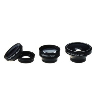Patuoxun Magnetic 4-in-1 Lens Kit (Fish Eye Lens/ Wide Angle Lens/ Macro Micro Lens/ Telephoto Lens)