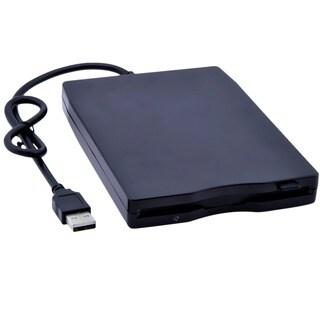 Patuoxun Portable 3.5-inch USB External Black Plug and Play 1.44 MB Floppy Disk Drive