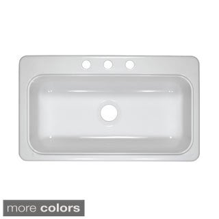 Designer 33-Inch by 19-Inch Single Acrylic 7.25-Inch Deep Kitchen Sink